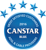 Canstar Blue Most Satisfied Customers Award, ADSL & Cable Broadband, 2016