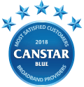 2018 Canstar Blue Award - Most Satisfied Customers - Broadband Providers