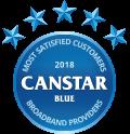 2018 Canstar Blue Award - Most Satisfied Customers - Broadband Providers