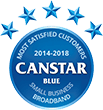 Most Satisfied Customers and Canstar satisfaction award logo