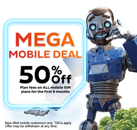 Mega Mobile Deal - 50% off plan fees on ALL mobile SIM plans for the first 6 months