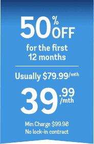 50% off for the first 12 months