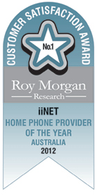 Roy Morgan Award Home Phone Provider of the year 2012