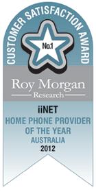 Roy Morgan Award Home Phone Provider of the year 2012