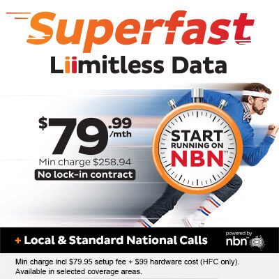 Superfast Liimitless Data with Local & standard national calls - $79.99 per month.