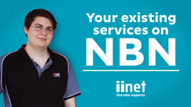 Existing services on the NBN video