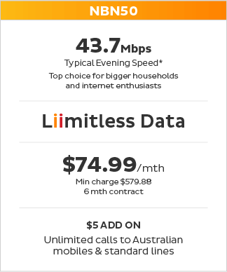 Most popular NBN plan $79.99 per month
